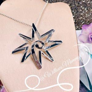 RARE Tiffany & Co. Paloma Picasso XL Star Sun Pendant in Sterling Silver